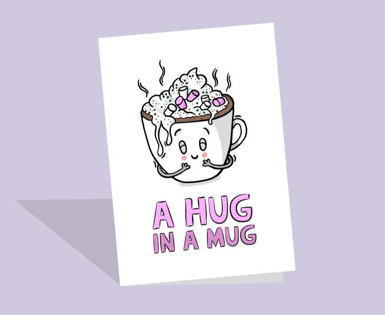 hug in a mug card