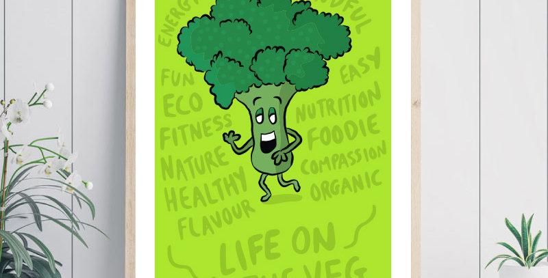 life on the veg print