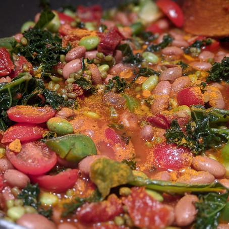 Vegan Three Bean Kale Bowl