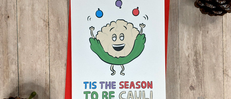 Cauliflower Christmas Card