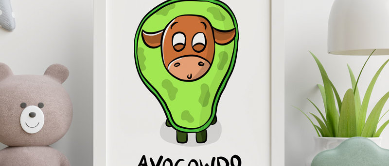 cute avocado print