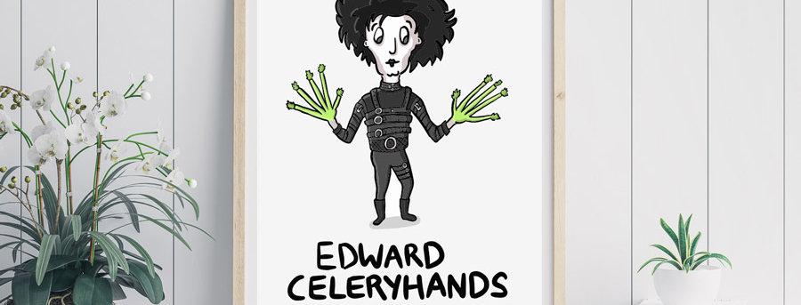 edward scissorhands print