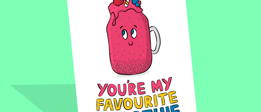 cute smoothie card