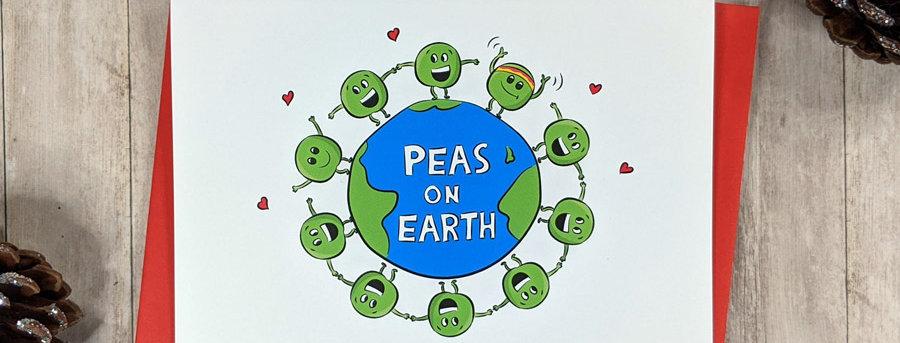 Peas on Earth Christmas Card
