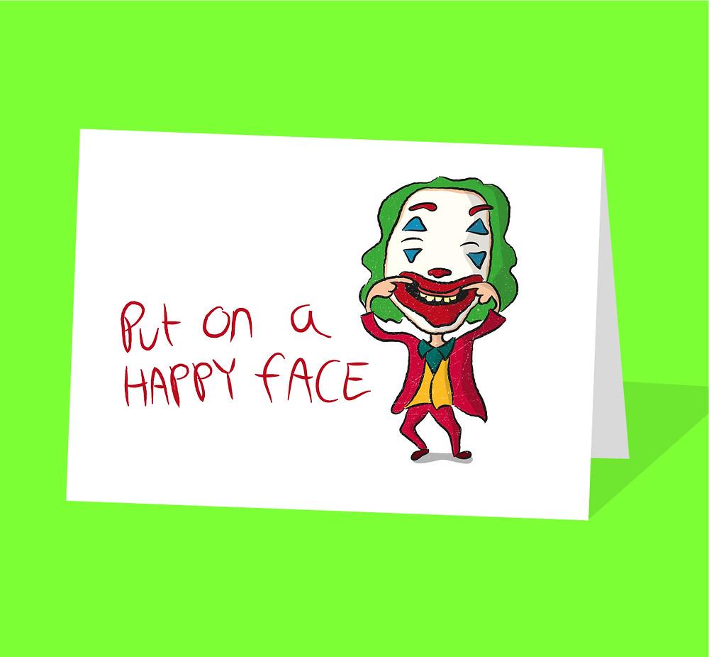Joker movie greeting card