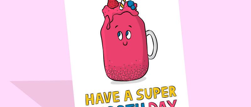 smoothie birthday card
