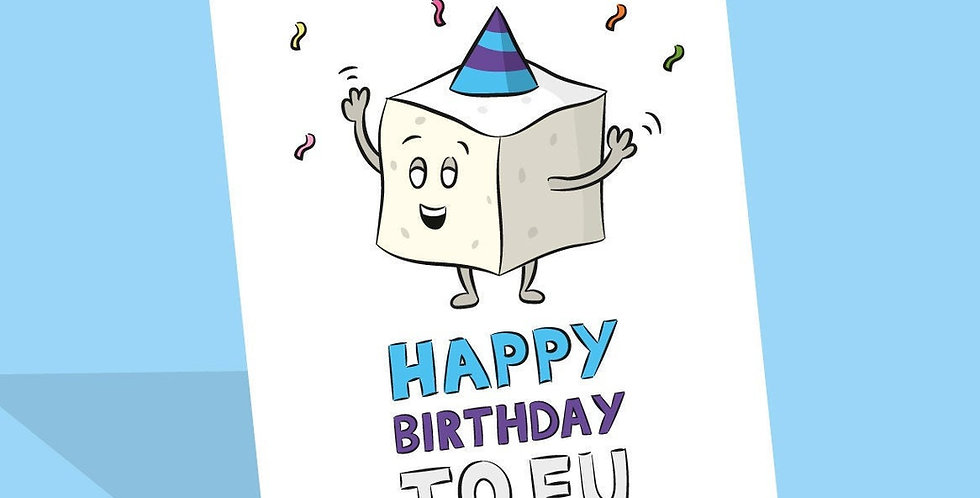 Vegan tofu birthday card