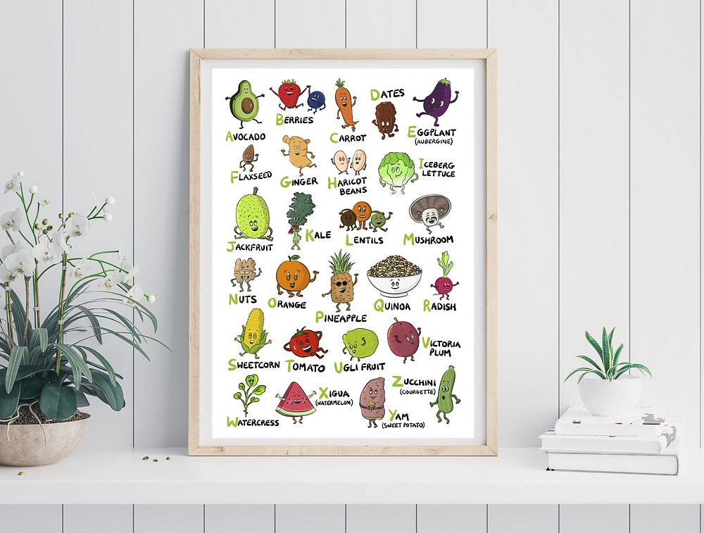 vegan illustrated products