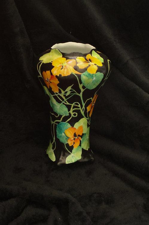 "Nasturtium Vase 9"" high"
