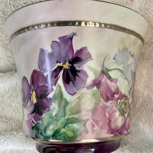 Pansies on a Cache Pot