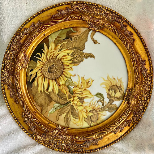 Raised Gold Sunflowers