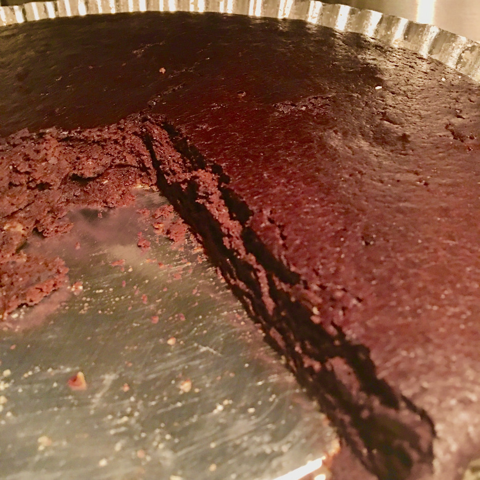 Brownie gigante de Alfarroba