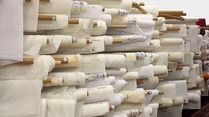 Telas para confección a medida de panel japonés, estores, visillos y cortinas con ollaos