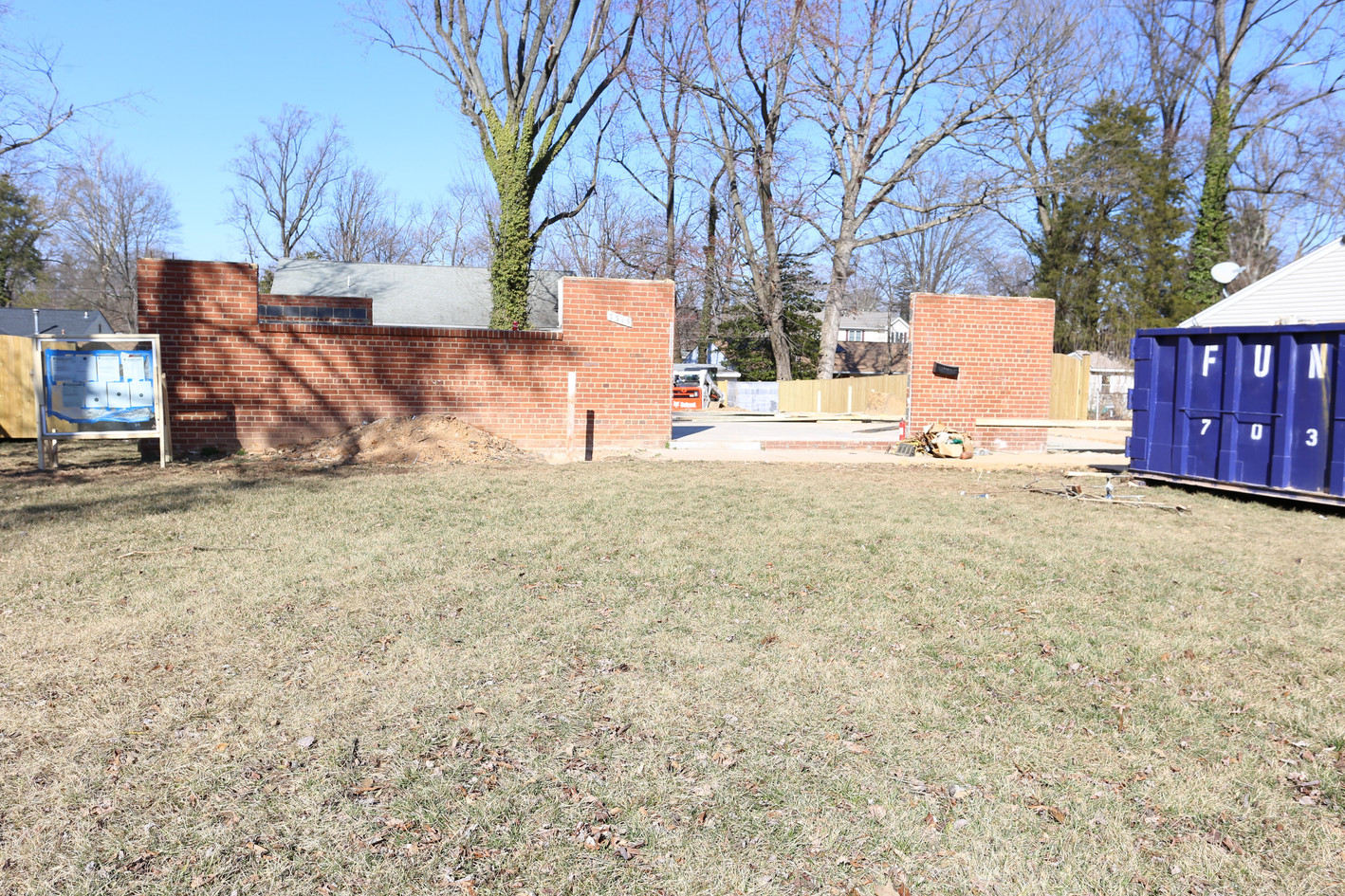 Before Picture of Residential Construction