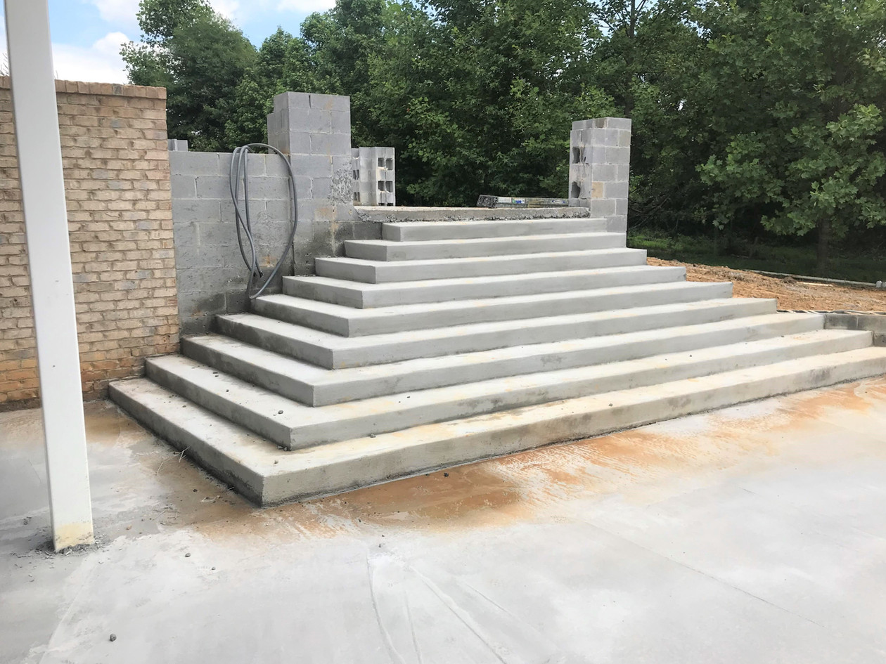Concrete stairs for pavilion
