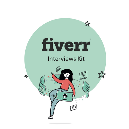 Interview Kit illustration for Human resources at Fiverr