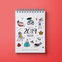 Fiverr's Calendar 2019 (Concept & Illustration)
