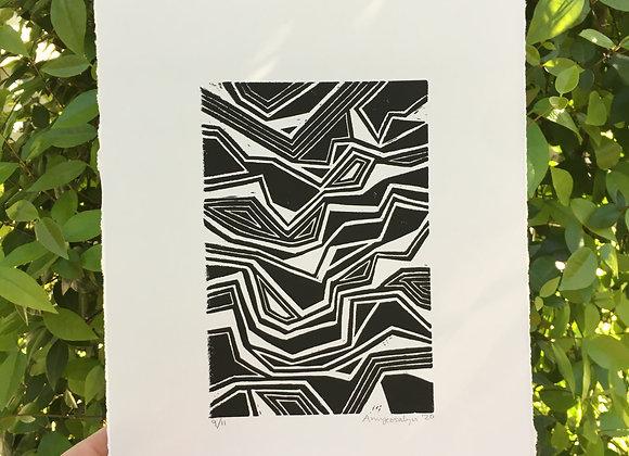 Rearrangement Block Print