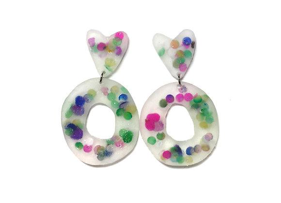 Heart Confetti Earrings