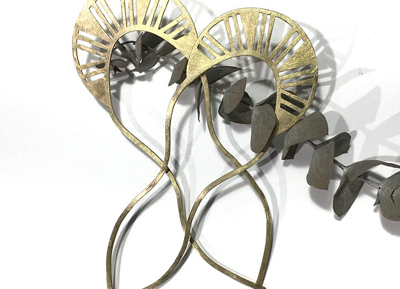 Two Brass Hair Pins