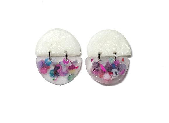 Confetti and Cream Cascarone Earrings