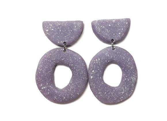 Flecked Purple Earrings