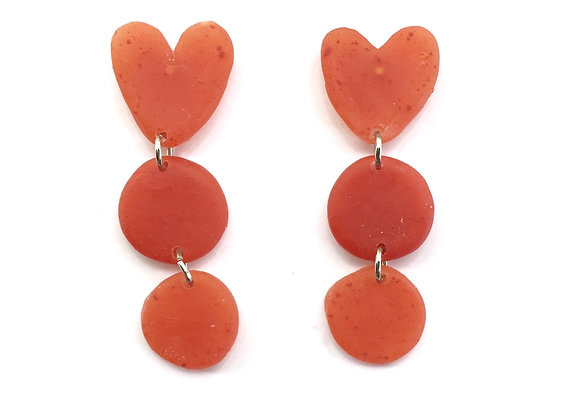 Red on Red on Red Earrings
