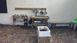 Our Mud Kitchen in the Woodland area