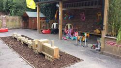 Oaksey & wooden train