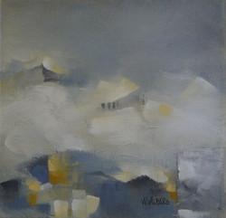 Tidlig vinter, 20x20cm akryl, SOLGT