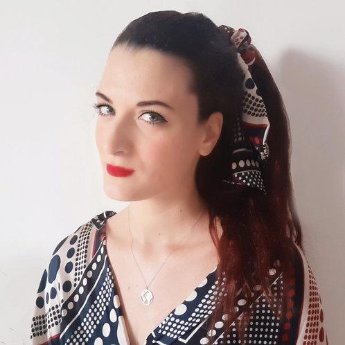 Scrunchie Flora con foulard