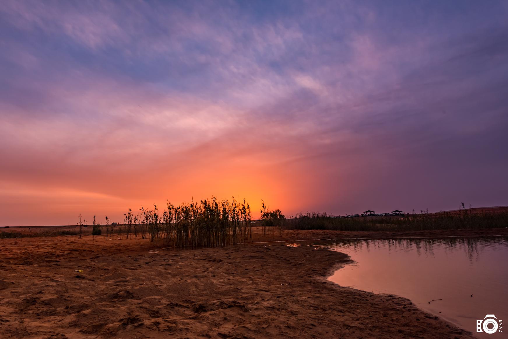 Sunset at Zakher lake
