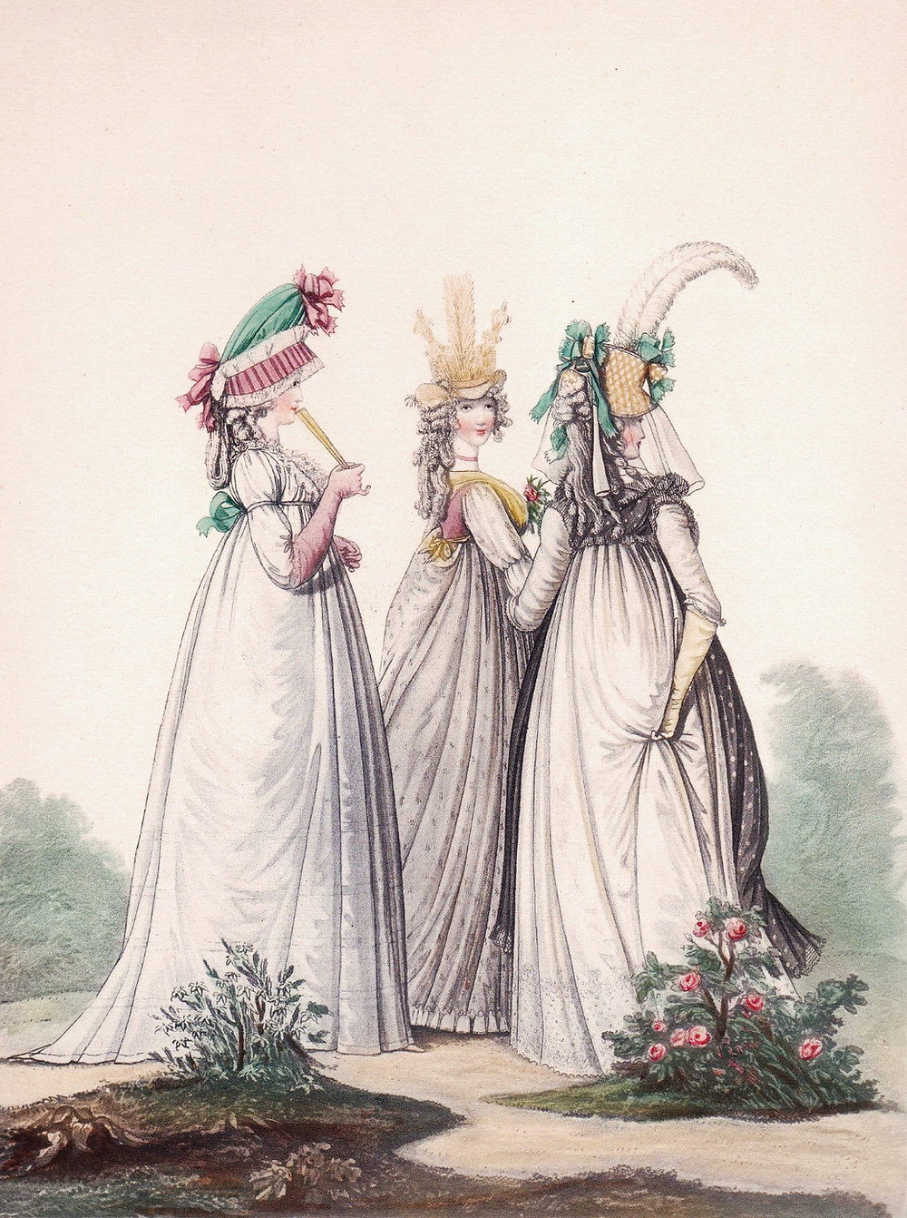 Three young Regency ladies