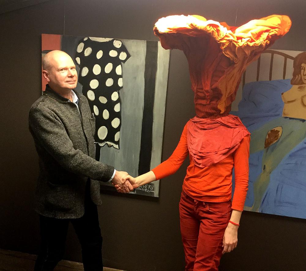 Арт-медиация на выставке: искусствовед Дмитрий Пиликин и доктор Фёдор Хиросигэ