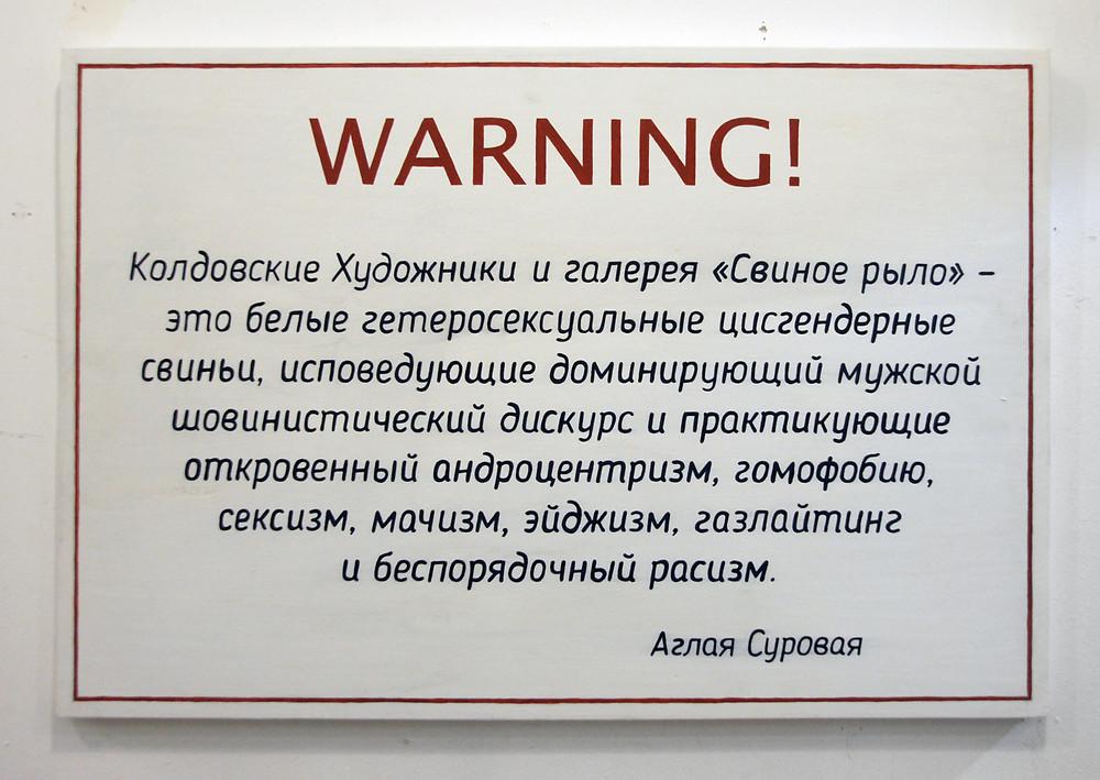 Аглая Суровая «Warning!» 2019