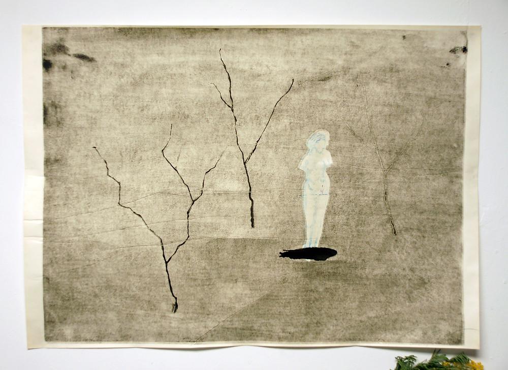 Александра Гарт «Венера и 2 электрических дерева и дерево-призрак», 2019