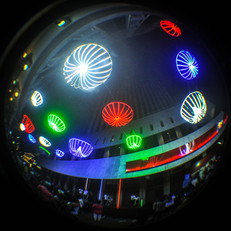 EXTERIOR LED INTERACTIVE LIGHT INSTALLATION