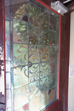 100年物のステンドグラス