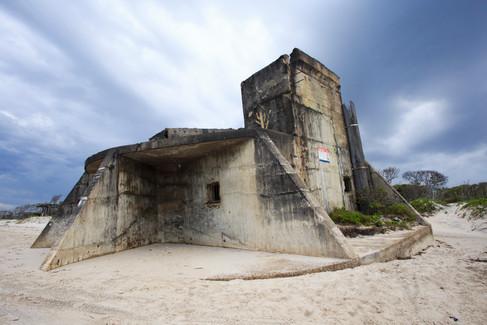 World War Two fortifications on Bribie Island, Queensland, Australia