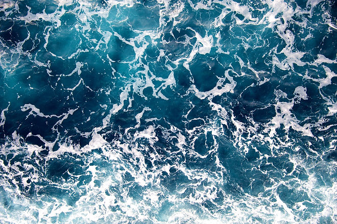 Blue sea foam