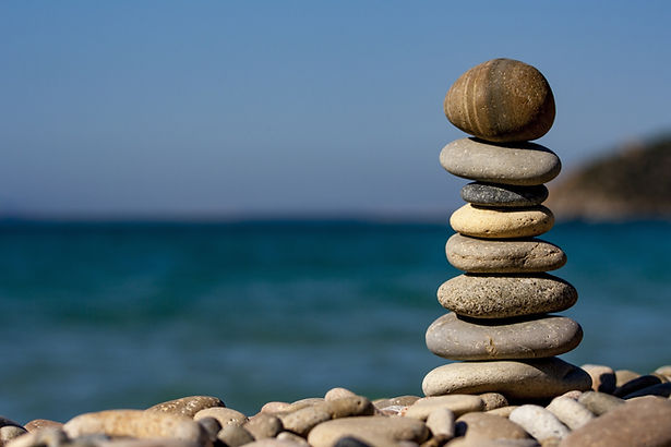 balancing rocks by the sea