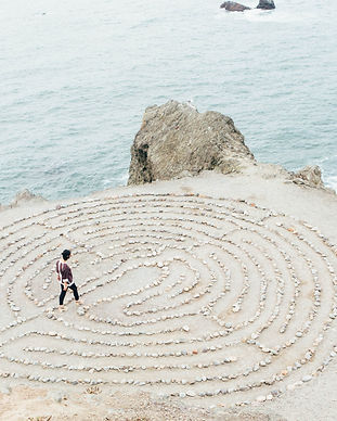 Looking for direction in a maze by the sea