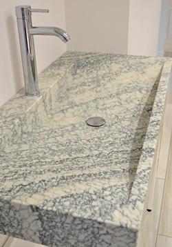 Vasque verte marbre français