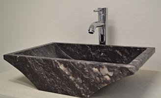 Vasque marbre violet royal