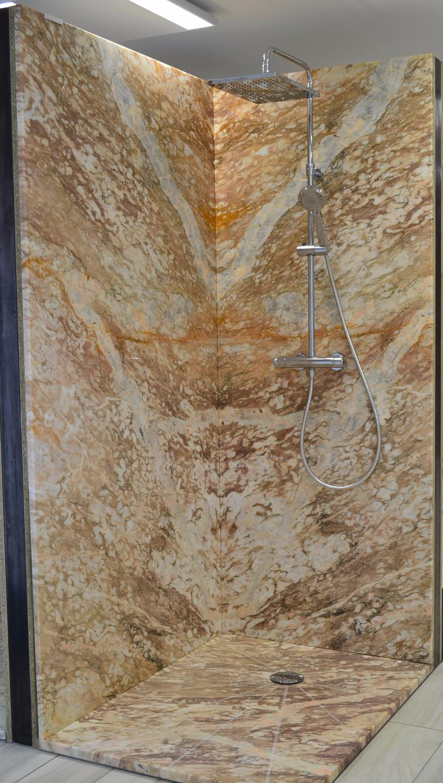 Douche marbre doré français