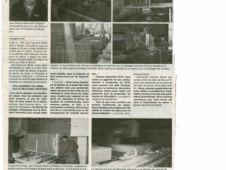 Article Ouest France avril 2016
