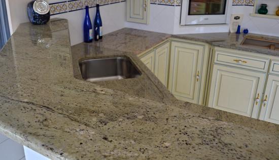 Plan de cuisine en granit Lemon Ice