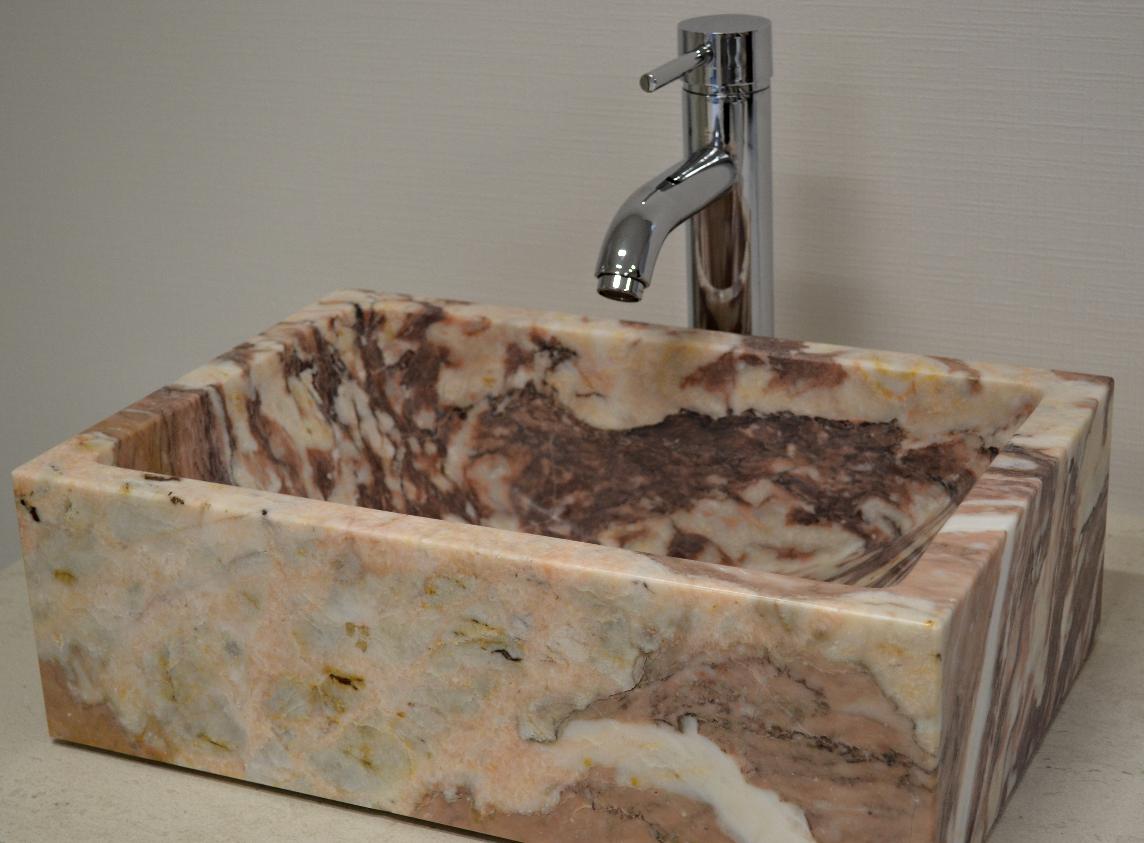 Vasque dorée marbre français