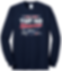 Navy Long Sleeve Cotton T-Shirt.png