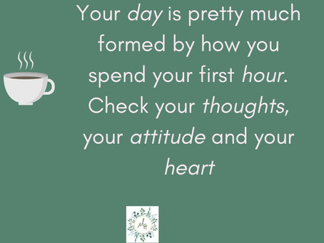 The secret to your sanity is your daily routine.